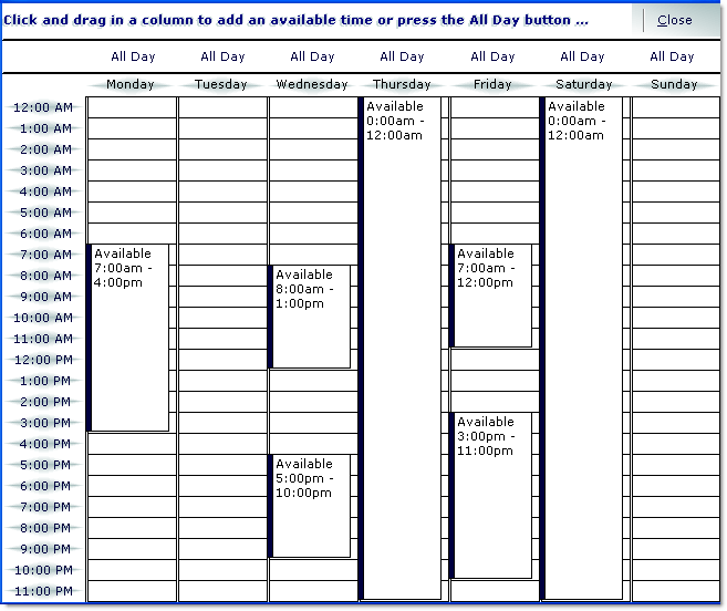 dbi technologies staff scheduler schedule by features page