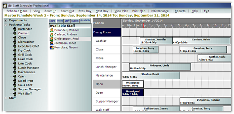 DBI Staff Scheduler Pro - Resource Availability